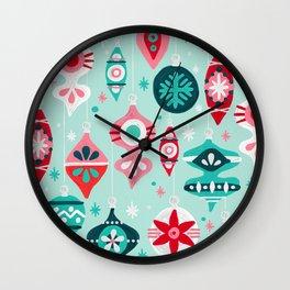 Christmas Ornaments – Mint Palette Wall Clock