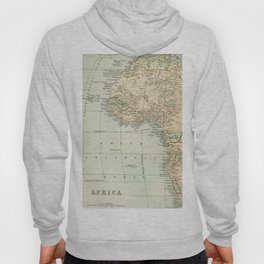 West  & North Africa Vintage Map Hoody