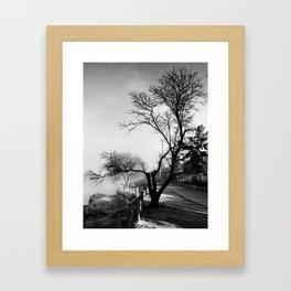 Winter Skeleton Framed Art Print