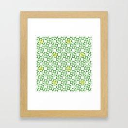 Clover Leaves Pattern Framed Art Print