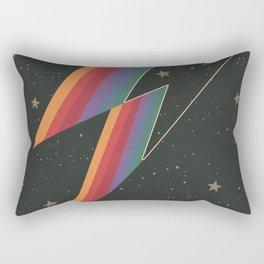 Lightening Bolt, Bowie, Cosmic Art Rectangular Pillow