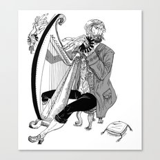 Ye Olde Harp Player Canvas Print