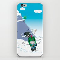giants iPhone & iPod Skins featuring Tiny Giants by Panda Robot