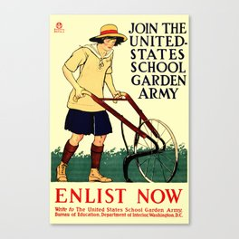Join the US School Garden Army Canvas Print