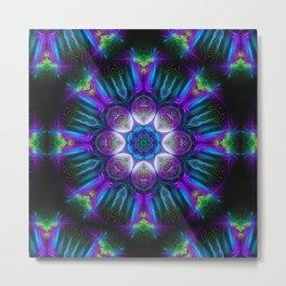 Neons Mandala - Fractal - Psychedelic - Manafold Art Metal Print