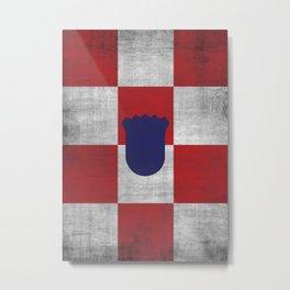 Minimalist Croatia Metal Print