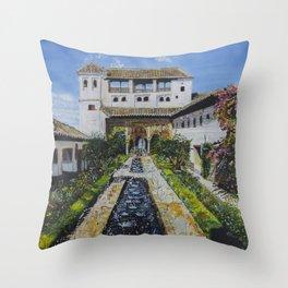 Palacio de Generalife Throw Pillow