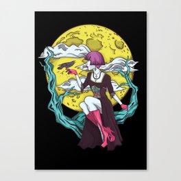 Moon Lady Canvas Print
