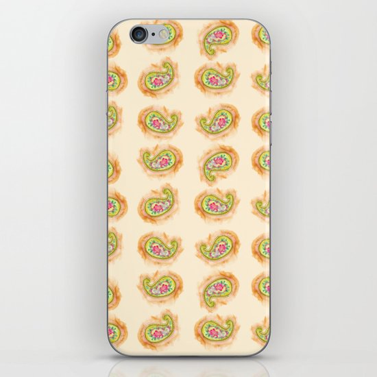 Paisley Watercolor in Tea (tan brown) iPhone & iPod Skin