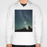 milky way Hoodies featuring Milky Way Galaxy by Ash W
