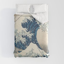 The Great Wave off Kanagawa by Katsushika Hokusai from the series Thirty-six Views of Mount Fuji Art Duvet Cover