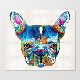 Colorful French Bulldog Dog Art By Sharon Cummings Canvas Print