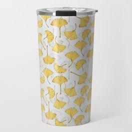 Ginkgo Pattern Travel Mug