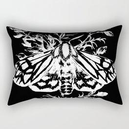 butterfly black Rectangular Pillow