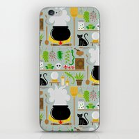 lab iPhone & iPod Skins featuring Witch's lab by Ana Linea
