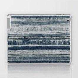 Expressive Indigo Watercolor Stripe Laptop & iPad Skin