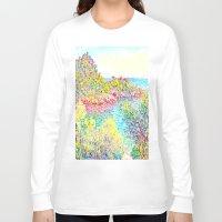 monet Long Sleeve T-shirts featuring MONET : Landscape Near Monetcarlo  by PureVintageLove