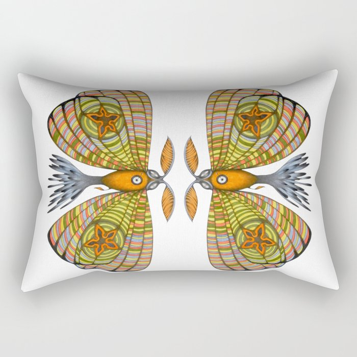 circus moth (ORIGINAL SOLD). Rectangular Pillow