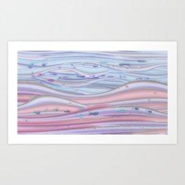Colorful ocean fishy sky Art Print