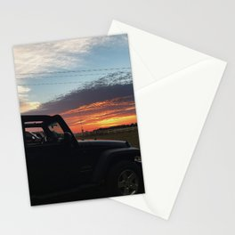 Jeep in Sun Stationery Cards