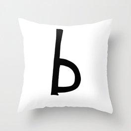 B Monogram (Hand 2) Throw Pillow