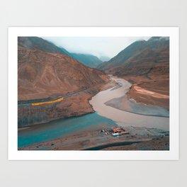 Mountains & Rivers Art Print