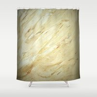 lawyer Shower Curtains featuring Old World Marble II by Corbin Henry