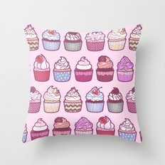 Cupcakes Galore Throw Pillow