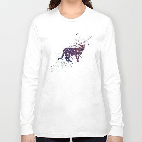 Cat Galaxy Long Sleeve T-shirt