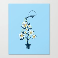Canine Flowers Canvas Print