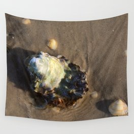 Shells in the sand 1 Wall Tapestry