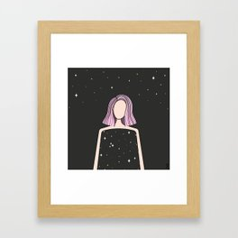 daughter of the universe  Framed Art Print
