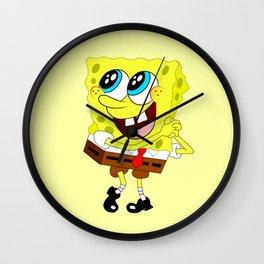 Spongebob Amazed Wall Clock