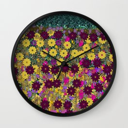 Floral Dancing In the air Wall Clock