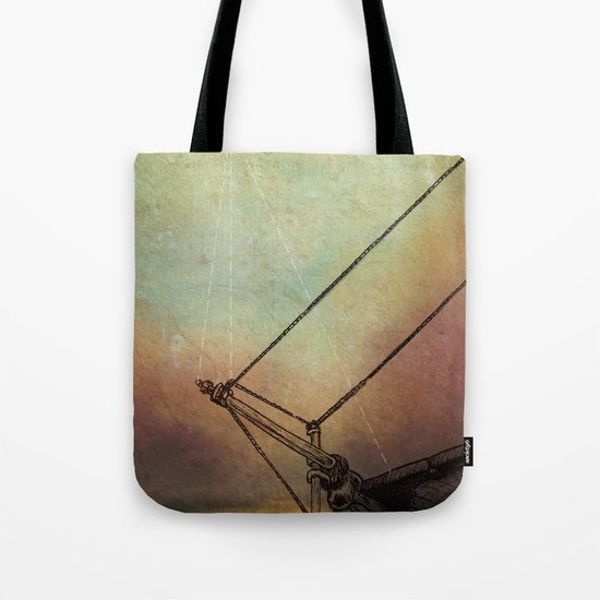 Gently Guided Ship Tote Bag