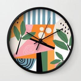Modern Leaf Art Wall Clock