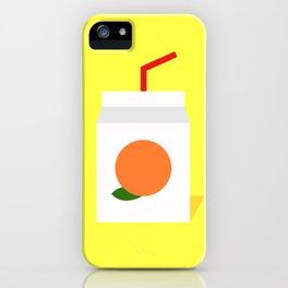 Orange Juice Box iPhone Case