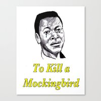 to kill a mockingbird Canvas Prints featuring To Kill a Mockingbird by AdrockHoward