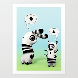 Lally Lama Art Print
