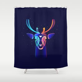 Fantasy night (Snow and warm lights) Shower Curtain