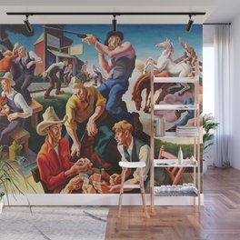Classical Masterpiece 'Arts of the West' by Thomas Hart Benton Wall Mural