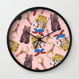 Pretty Soldier Pattern Wall Clock