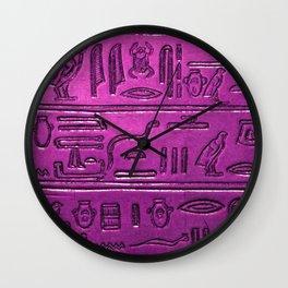 Hieroglyphs 2014-1030 Wall Clock