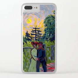Moonrise: Soldier and Maiden, 1905 - Ernst Ludwig Kirchner Clear iPhone Case