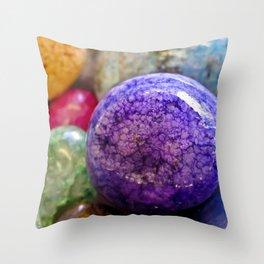 Rainbow Rocks Throw Pillow