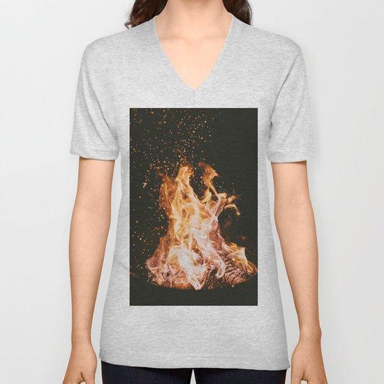 Winter Campfire by rusticwinterprintco