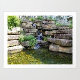 Rocky Waterfall Art Print