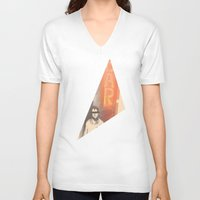 bar V-neck T-shirts featuring Bar by Martin Evans
