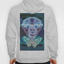 Vintage Hot Air Baloon Surreal Night Scene Hoody