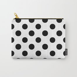Polka Dots (Black/White) Carry-All Pouch